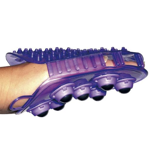 Curry comb and massage double sided glove
