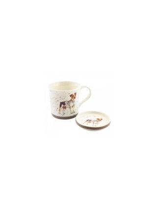 jack russel mug and coaster
