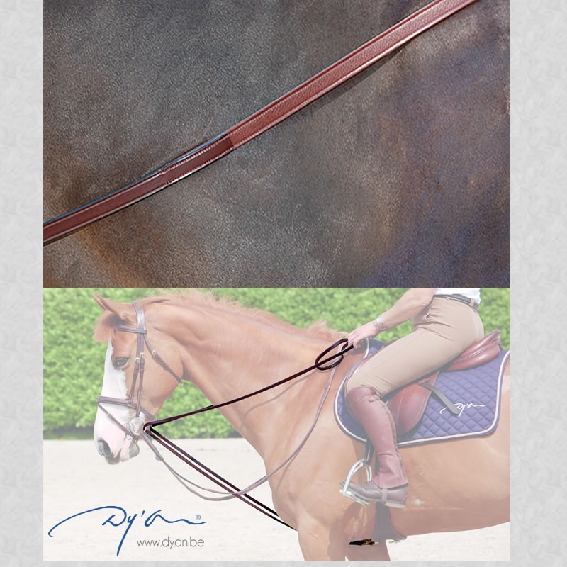leather draw reins dyon